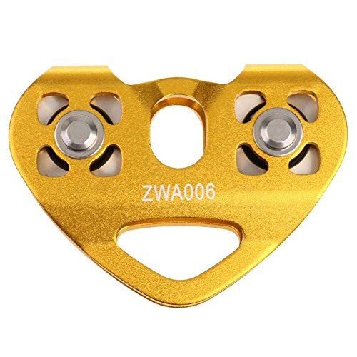 Yaootely 30KN Seilrolle Tandem Pulley Tandemrolle Umlenkrolle Fuer 8-13mm Seile