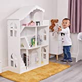 Liberty House Toys Bibliothèque en Bois Blanc pour Maison de poupée avec Toit terrasse Balcon MDF 116 cm H x 83 cm l x 30,5 cm P