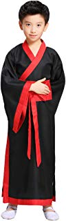 Ez-sofei Boys Kids Ancient Chinese Han Dynasty Traditional Hanfu Robe Cosplay Costume