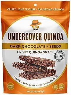 Undercover Quinoa Dark Chocolate + Seeds Crispy Quinoa Snack, 8 Count Case of 2 oz. Bags