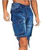 Crosshatch Pantalones cortos casuales de combate de carga para hombre de algodón pantalones vaqueros de verano medio pantalón