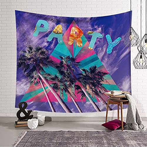 KHKJ Tapiz de Tela de Fondo Decoración del hogar Tela de Pared Playa Cocotero Tapiz Dormitorio Encaje Tapiz de Pared Tapiz de Pared A6 200x150cm