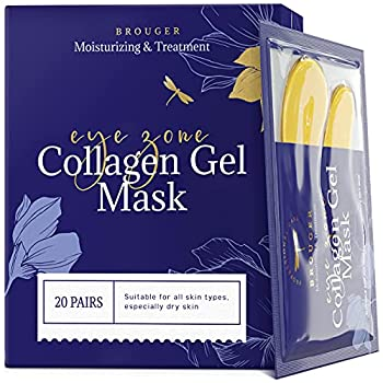 Under Eye Patches - 24Karat Gold Under Eye Mask Anti-Aging Hyaluronic Acid Collagen Under Eye Pads Reducing Dark Circles & Wrinkles Treatment Gel Bags 20 Pairs
