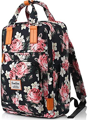 YAMTION Zaino Scuola Ragazza Zaino Donna Zaino Scuola Superiore per Laptop 15.6 Pollici,Zaino Porta PC con Porta USB