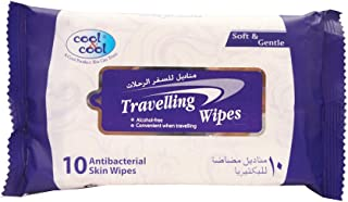 Cool & Cool Travelling Wipes - 10 Pieces