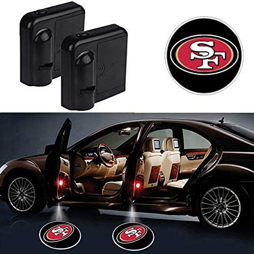 wesport Car Door Led Welcome Laser Projector Car Door Courtesy Light Suitable Fit for all brands of cars (San Francisco 49ers)
