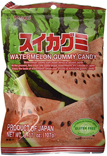 Japanese Gummy Candy from Kasugai  Watermelon  107g