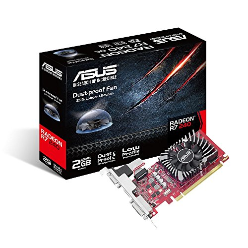 ASUS Radeon R7 240 2 GB GDDR5, Scheda Video Low Profile per HTPC