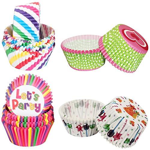 LLMZ Taza para Hornear 400 Piezas Papel para Cupcakes Moldes