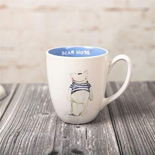 fsafa 300Ml Lindo Dibujos Animados Animales Tazas - Copa De Oso 3D- Novedad Pintada A Mano Tazas De Leche De Té De Chocolate Personalizado Tazas De Niños, Mejor Regalo