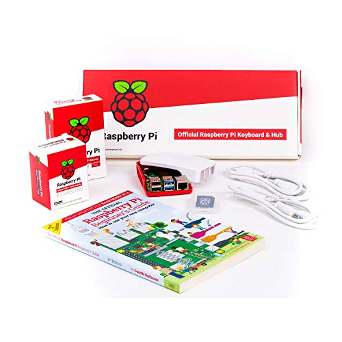 sb components Raspberry Pi 4 Official Starter Kit, Official Raspberry Pi 4 Desktop Kit Raspberry Pi 4 Model B 8GB Starter Kit Motherboard with 16GB SD Card Preloaded with Raspbian