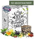 Tee Adventskalender I Weihnachtskalender mit 24 aromatischen Teesorten I Geschenkset in der...