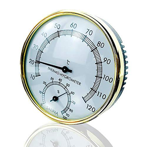 Sinicyder - Termometro igrometro per sauna, 2 in 1, igrometro per sauna, accessorio interno per sauna, bagno ad aria calda, bagno a vapore morbido