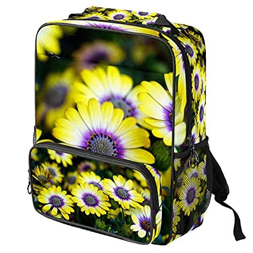 Mochila casual para computadora portátil, bolsa de trabajo de moda con impresión de cesta de capa para mujeres/niñas/hombres
