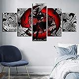 ZYUN 5 Stücke Segeltuch Wandkunst Drucken - HD Naruto