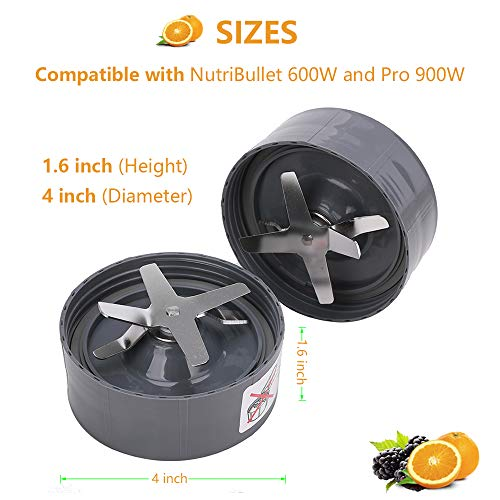 2 Pack Blender Extractor Blade Cross Blade Replacement Parts Compatible with Nutribullet 600W