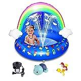 JZTOL Piscina De Bebé, Piscina Inflable del Bebé del Arco Iris, Piscina para Niños Piscina Al Aire Libre Playa De Backyard Jugando Juguetes para Niños Y Niñas 40 Pulgadas