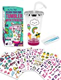 Purple Ladybug Create Your Own Personalized Tumbler for Girls with Cute Tumbler Stickers! BPA Free...