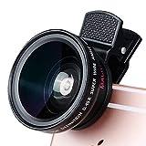 hyhr 0.45 Ultra Wide-Angle Macro 2-en-1 Set 37mm SLR Universal External Phone Lens Negro