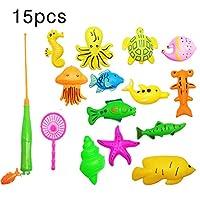 クリエイティブ39/15/27ピース磁気釣りおもちゃベビーバスおもちゃ釣り学習教育プレイセット(プールは含まれていません)
