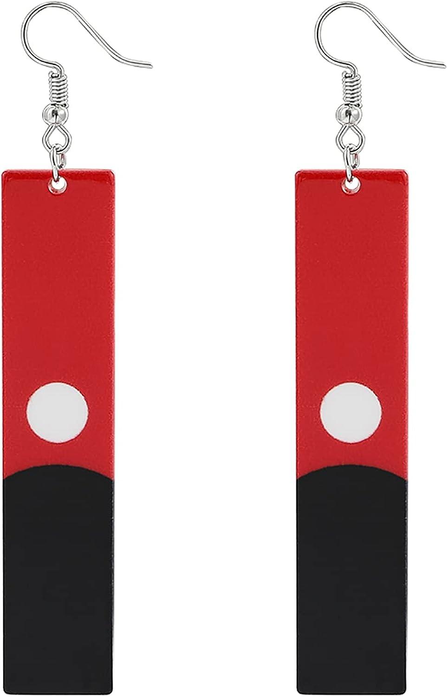 Tokyo Revengers Earrings, Anime Tokyo Revengers Cosplay Jewelry Gifts, Red Black Resin Pendant Drop Earrings Stud Earrings Ear Clip