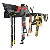 Garage Tool Storage Organizers Wall Mounted with 6 Removable Hooks and 3 Board, Super Heavy Duty...