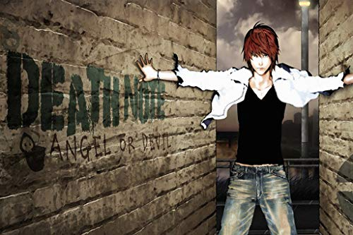WOAIC Death Note Angel Anime Pósteres For Bar Cafe Home Decor Painting Wall Sticker Frameless 24X36 Inch(60X90CM)