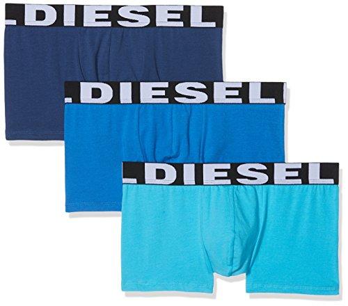 Diesel Herren Boxershorts 00SAB2 (3er Pack), Mehrfarbig (Blue 12), XL