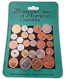 IMPACTO COLECCIONABLES Monedas del Mundo Real - 25 Monedas auténticas de 25 países Europeos