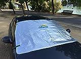 REFLECAR Parasol LD100 Exterior ultrareflectivo y Aislante. No quemará el Volante en Verano y estarás Protegido de heladas/Nieve en Invierno. Alta Gama, Premium.