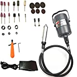 Go2Home Flex Shaft Grinder Carver Rotary Tool Hanging Electric Grinding Machine, Multi-Function Tools, Foot Pedal Control, for Carving, Buffing, Drilling, polishing, Sanding, Cutting, Cleaning