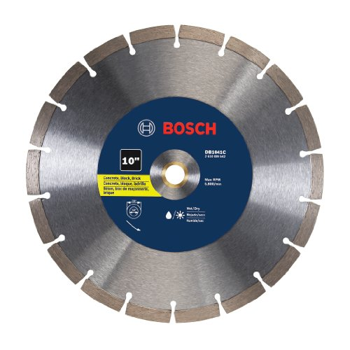 Bosch DB1041C 10 In. Premium Segmented Rim Diamond Blade for Universal Rough Cuts