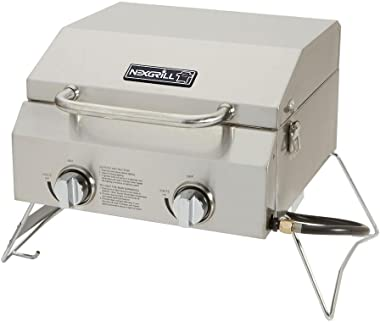 Nexgrill Industries Inc. 820-0033 2-Burner Portable Propane Gas Table Top Grill
