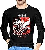 KMFDM Rock Music Band Mens Vintage Crewneck Long Sleeve T-Shirts Custom Tops tee