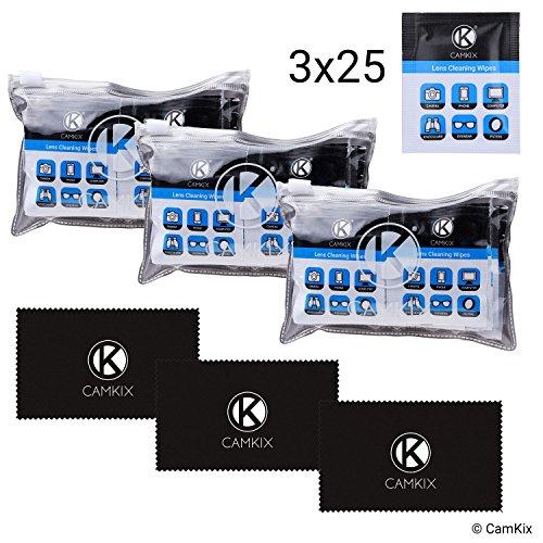 Lens- en displayreinigingsset - 2 microvezeldoeken, 2 x afzonderlijk verpakte vochtige doekjes - voor brillen, zonnebrillen, lenzen, telefoon/tablet-beeldschermen, etc. - Speciaal alcoholvrije formule.