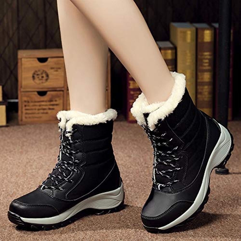 QDL1 verktaka Women Boots Non-Slip Waterproof Winter Ankle Snow Boots Women Platform Winter shoes with Thick Fur Botas women
