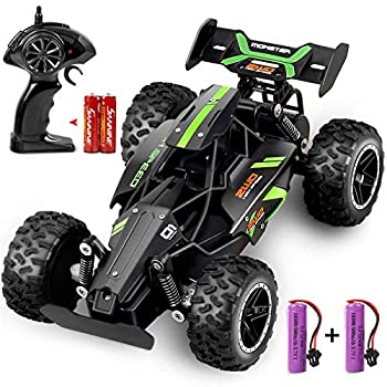 Outerman All-Terrain RC Car Electric Racing Car 15-20 km/h Toy Car High-Speed RC Toy Suitable for Young Adults and Boys with 2 Rechargeable Lithium Batteries 1 18 Ratio 2.4Ghz
