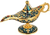 HEEPDD Aladdin Magic Genie - Tetera de Metal Retro con diseño de Hada para decoración de casa, lámpara de Aceite, para Disfraz de Arabia, Accesorio para Fiestas, Halloween, Regalo de cumpleaños