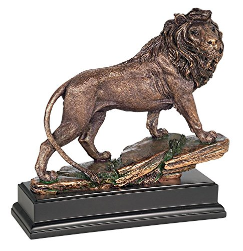 Universal Lighting and Decor Regal Lion 11' High Sculpture in a Bronze Finish - Kensington Hill