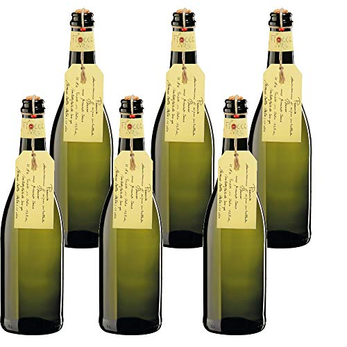 FIOCCO DI VITE Piemonte Doc Bianco Fiocco Di Vite Vino Frizzante - 6 Bottiglie - 6 x 75cl
