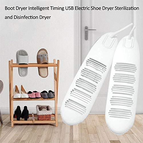 Skischuhwärmer Stiefelwärmer Schuhtrockner Elektrisch USB Schuhwärmer mit Gebläse und Zeitschaltuhr für 2 Paar Schuhe/Handschuhe
