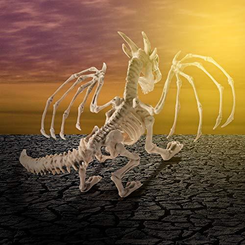 Prextex Scheletro di Drago Bianco Decorazione per Halloween