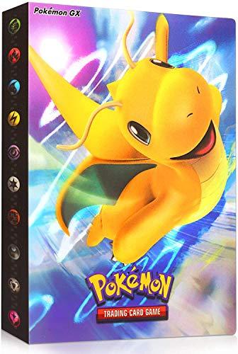 Classeur Carte Pokemon, Album Classeur Livre, Pokemon Carte Album, Albums Pokemon GX EX Trainer, 30 Pages Peut contenir jusqu'à 240 Cartes pour Pokémon Commerce Cartes GX EX (Dragonite)