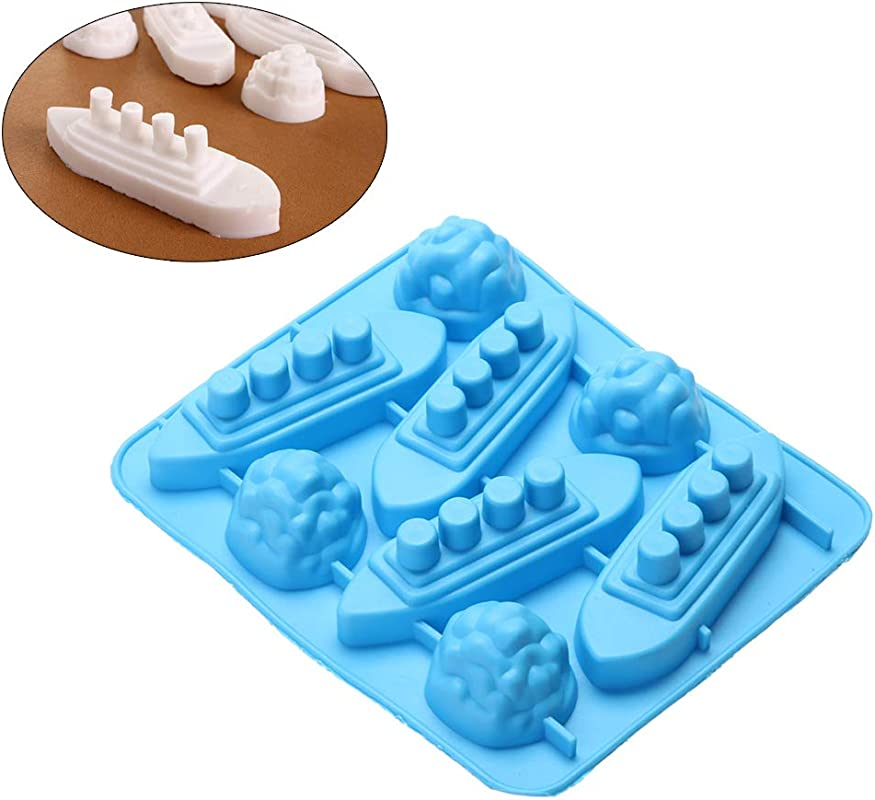 Titanic Iceberg Shaped Silicone Chocolate Candy Making Mold Tray And Ice Cube Trays Random Color