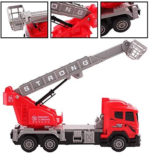 RC Auto kaufen Feuerwehr Bild 3: deAO funkgesteuertes Feuerwehrauto; Truck mit Kanälen- Voll funktionsfähiges Fahrzeug mit Fernbedienung*