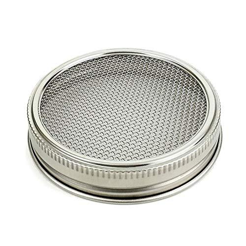 Kit de couvercle pour la pousse à large goulot en acier inoxydable, cadeau sain, pot à germer durable pour la maison Fournitures de maison en maille incurvée pour pousse de pousse (1 lot)