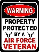 ヴィンテージルック再現メタルサインイン、米国空軍軍隊、警告サイン私有財産のためのメタル屋外危険サインブリキの肉サインアートヴィンテージプラークキッチンホームバー壁の装飾