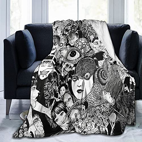 Terrible Junji Ito Uzumaki & Tomie Blanket Throw Blankets Lightweight Flannel Air Conditioning Quilt for Bed Sofa Chair