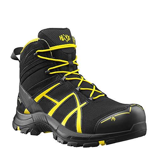 HAIX Haix Black Eagle Safety 40 Mid Black/Yellow Sportliche Sicherheitsschuhe - die Basis Ihrer Arbeitskleidung. 35