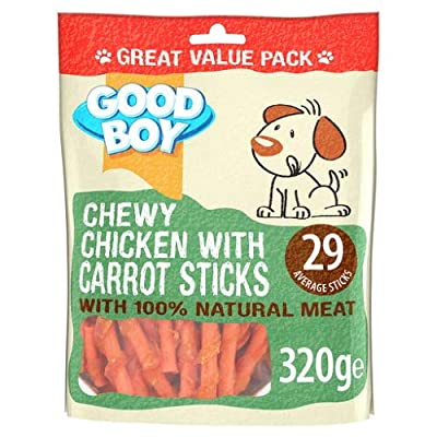 GoodBoy *NEW* 320G VALUE PACK CHEWY CHICKEN WITH CARROT STICKS NATURAL MEAT DOG TREATS